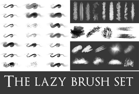 The Lazy Brush Pack For Photoshop