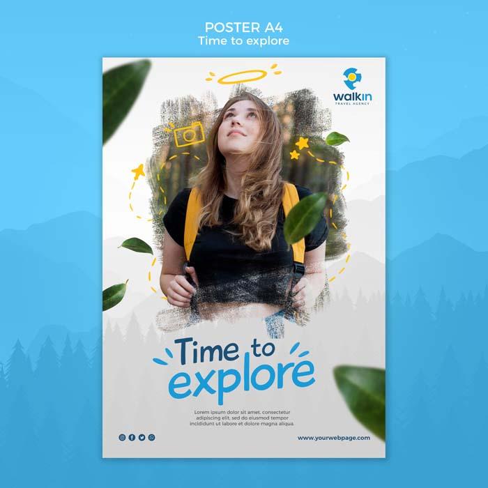 Explore Concept Poster Template