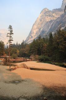 Mirror Lake in fondo alla Yosemite Valley