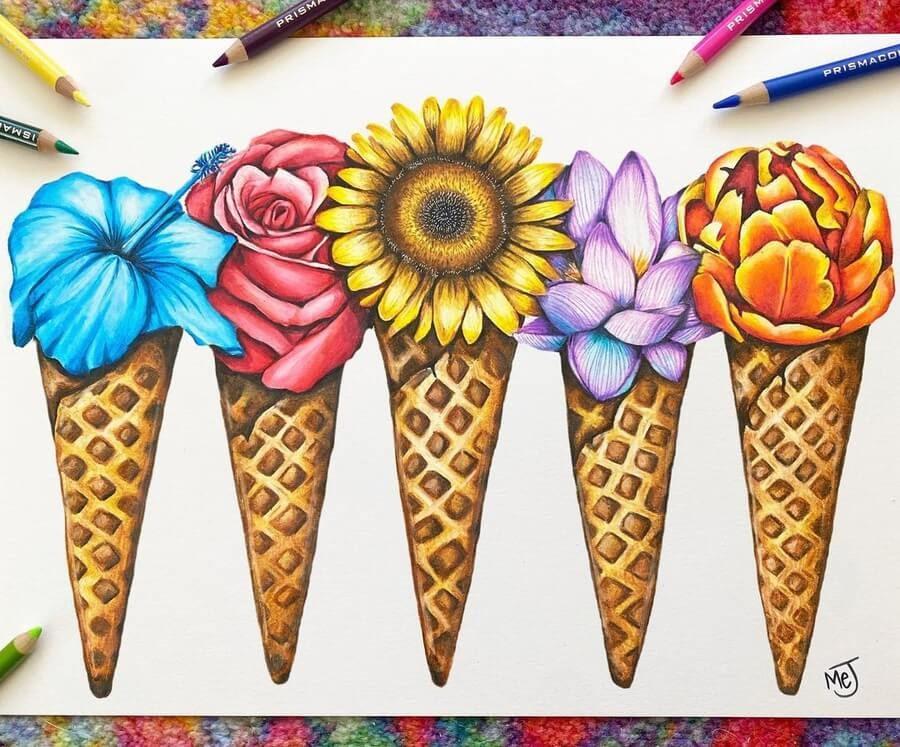 09-Flowers-in-an-ice-cream-cone-Morgan-Johnson-www-designstack-co