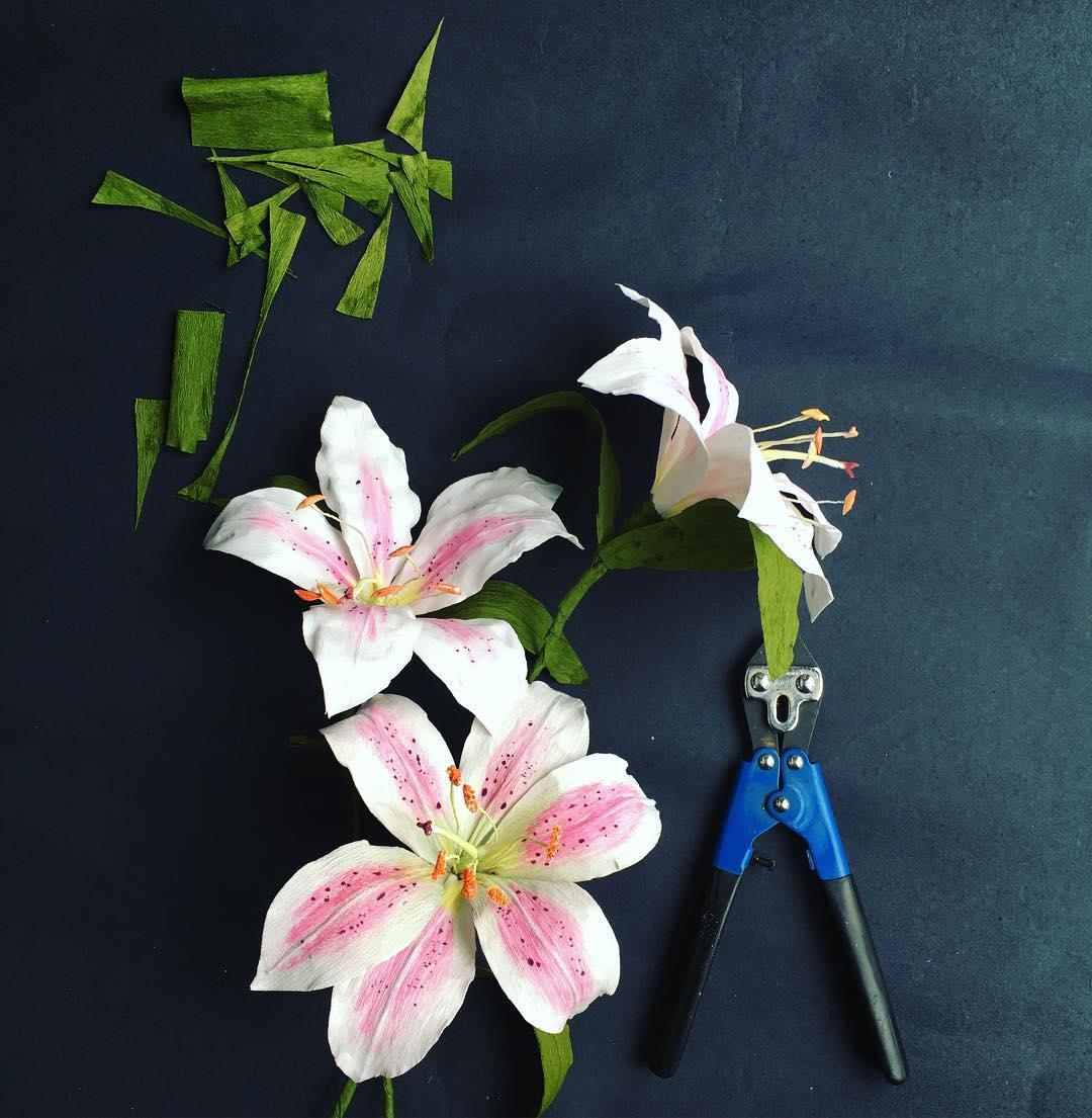 Top 6 paper flower making tool guide handmade paper flowers by i started using the mini glue gun from michaels because it could achieve fine workwellthen i got the first large paper flower wall and mightylinksfo