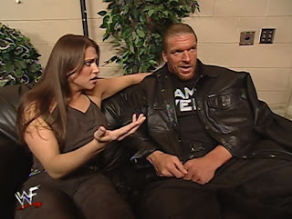 WWE / WWF Unforgiven 2000 - HHH warned Stephanie McMahon that Kurt Angle is not her friend