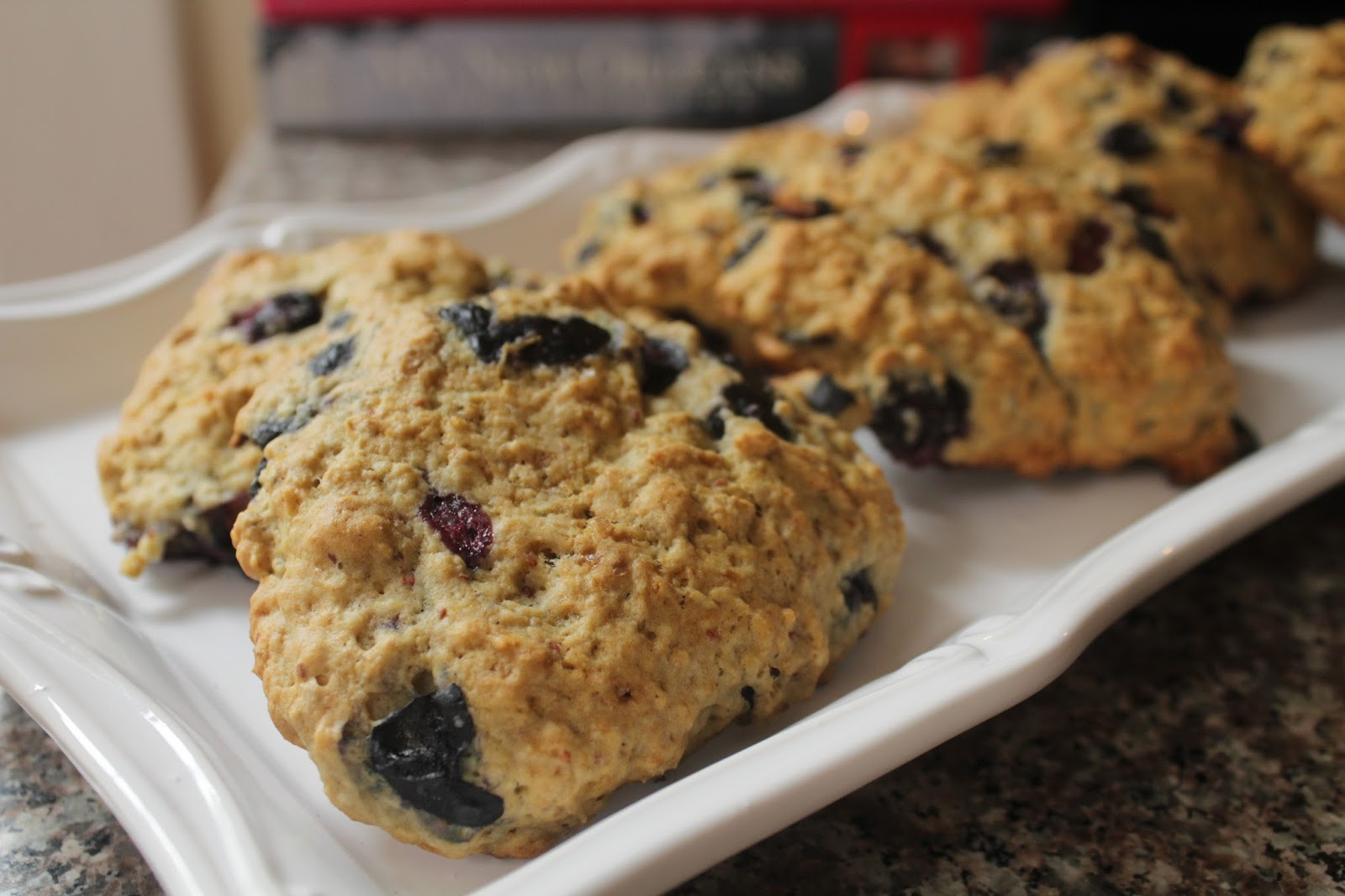 Semi Whole Wheat Oatmeal Blueberry Scones