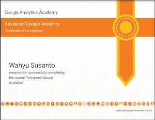Sertifikat Google Analytics