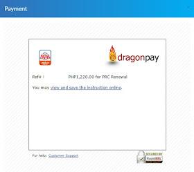 Payment process renewal PRC