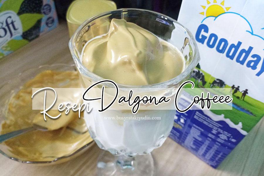 dalgona coffee, gula, air panas, nescafe gold, resepi dalgona coffee,