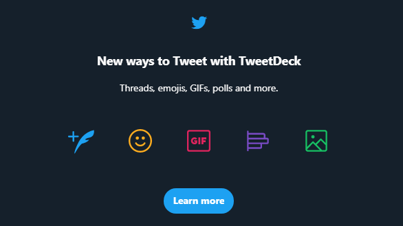 TweetDeck de Twitter introduit plus de façons de Tweeter