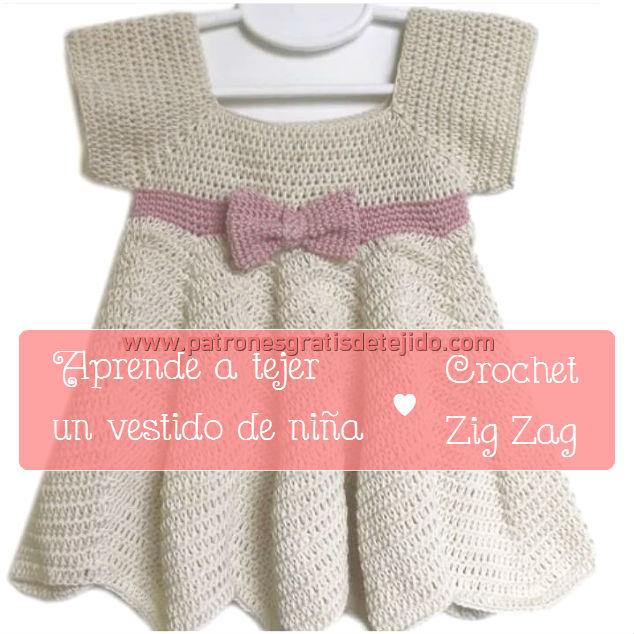Tutorial de vestido de nena tejido con ganchillo
