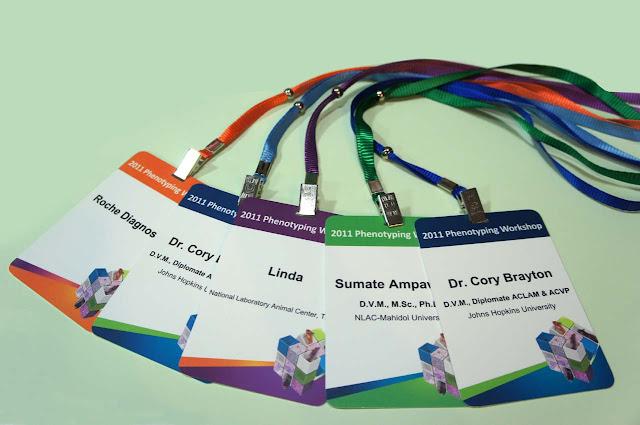 會議環保識別證帶繩套-双面式識別證議程餐券