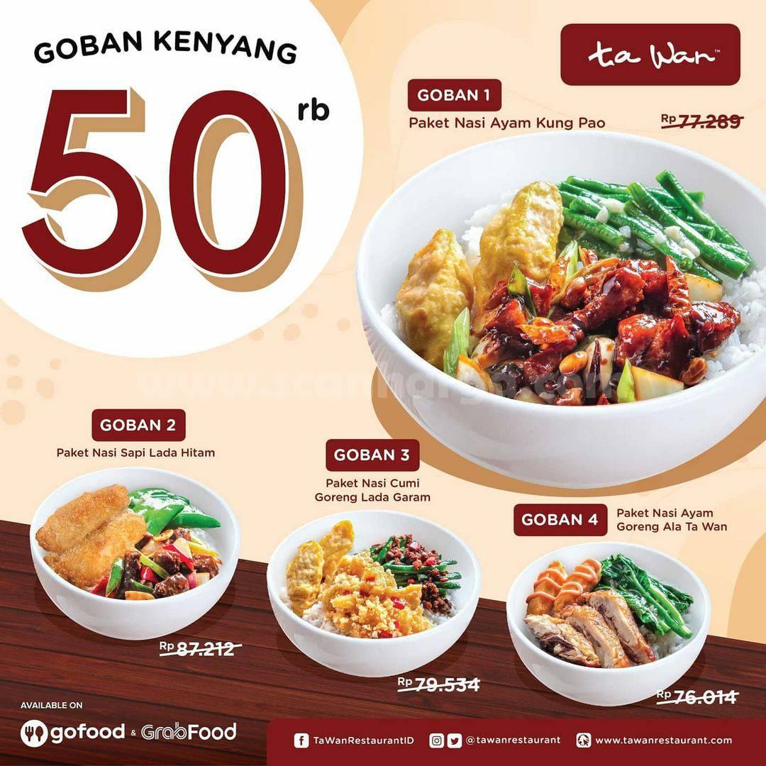 Promo TA WAN Restaurant Paket Goban Kenyang Serba Rp 50 Ribu*