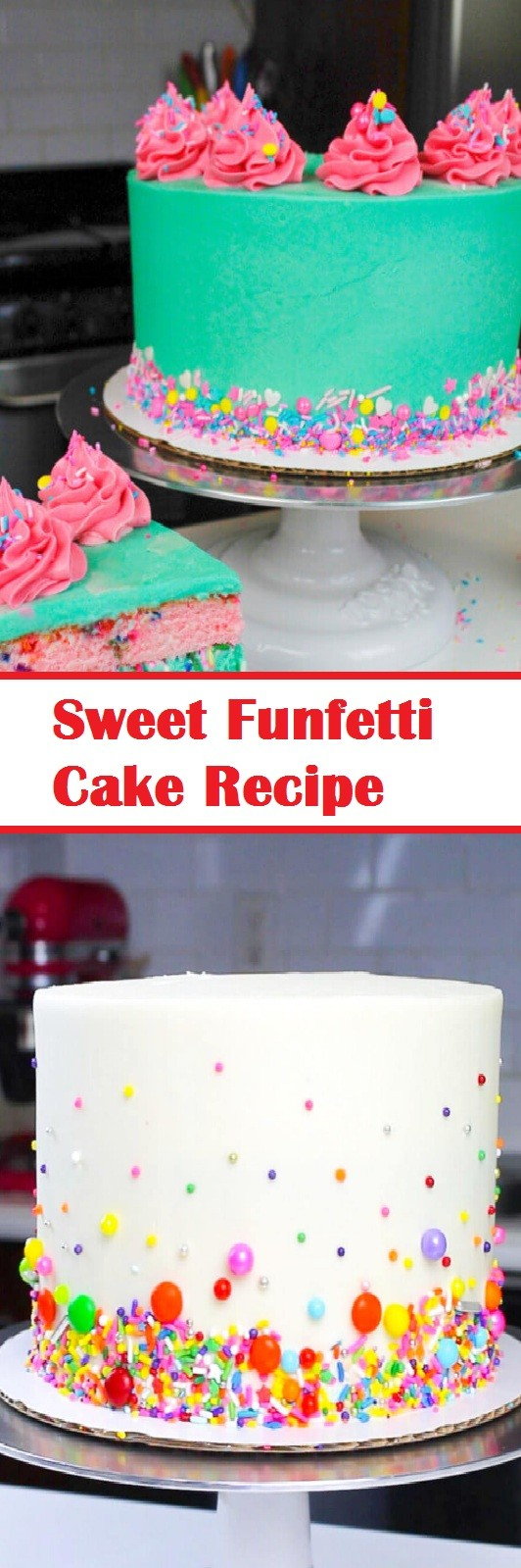 Sweet Funfetti Cake Recipe