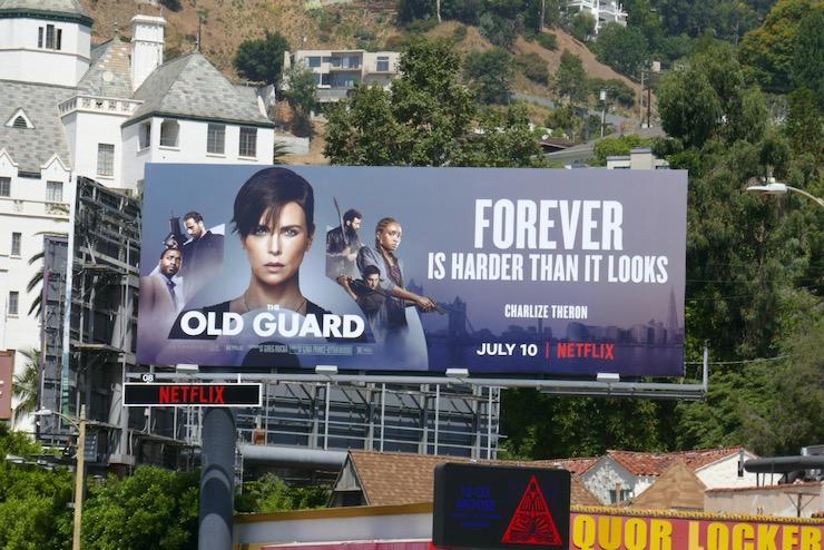 Old Guard film billboard