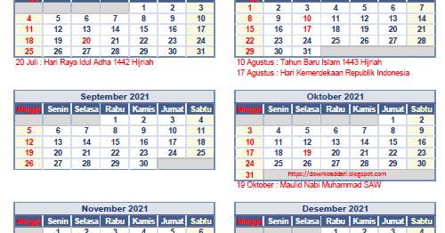 (DOWNLOAD) Kalender 2021 Lengkap Pdf   Download Lengkap