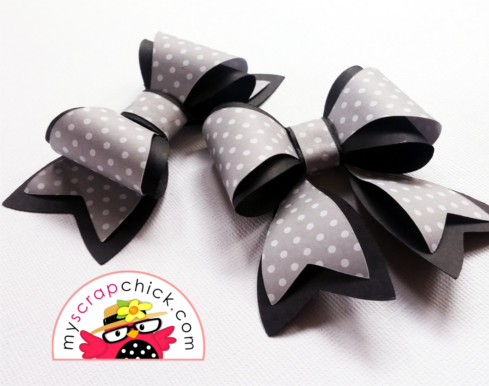 Paper Bow Layers In 3d Svg File Tutorial Myscrapchick