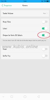 Cara Setting Penyimpanan Kamera Oppo