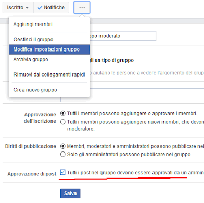 Creare un gruppo moderato su Facebook