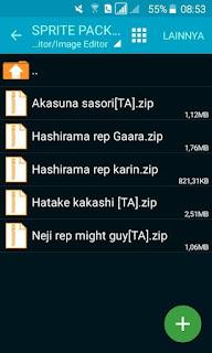 nih saya mau share beberapa sprite yang mungkin belum dimiliki Download Sprite Pack Naruto Senki v1