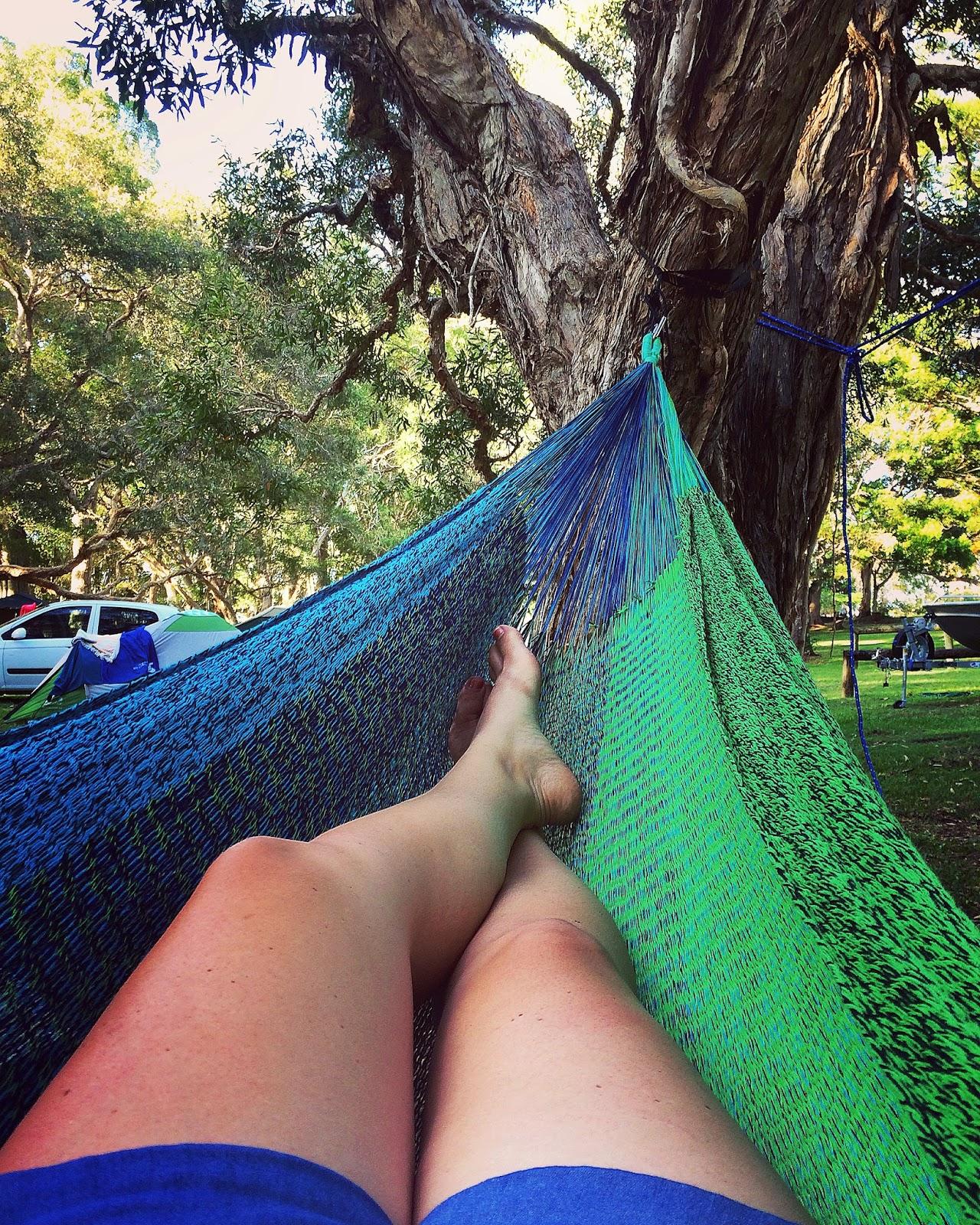 Relaxing in West Coast Hammocks
