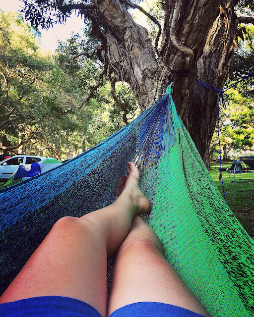 Relaxing in West Coast Hammocks