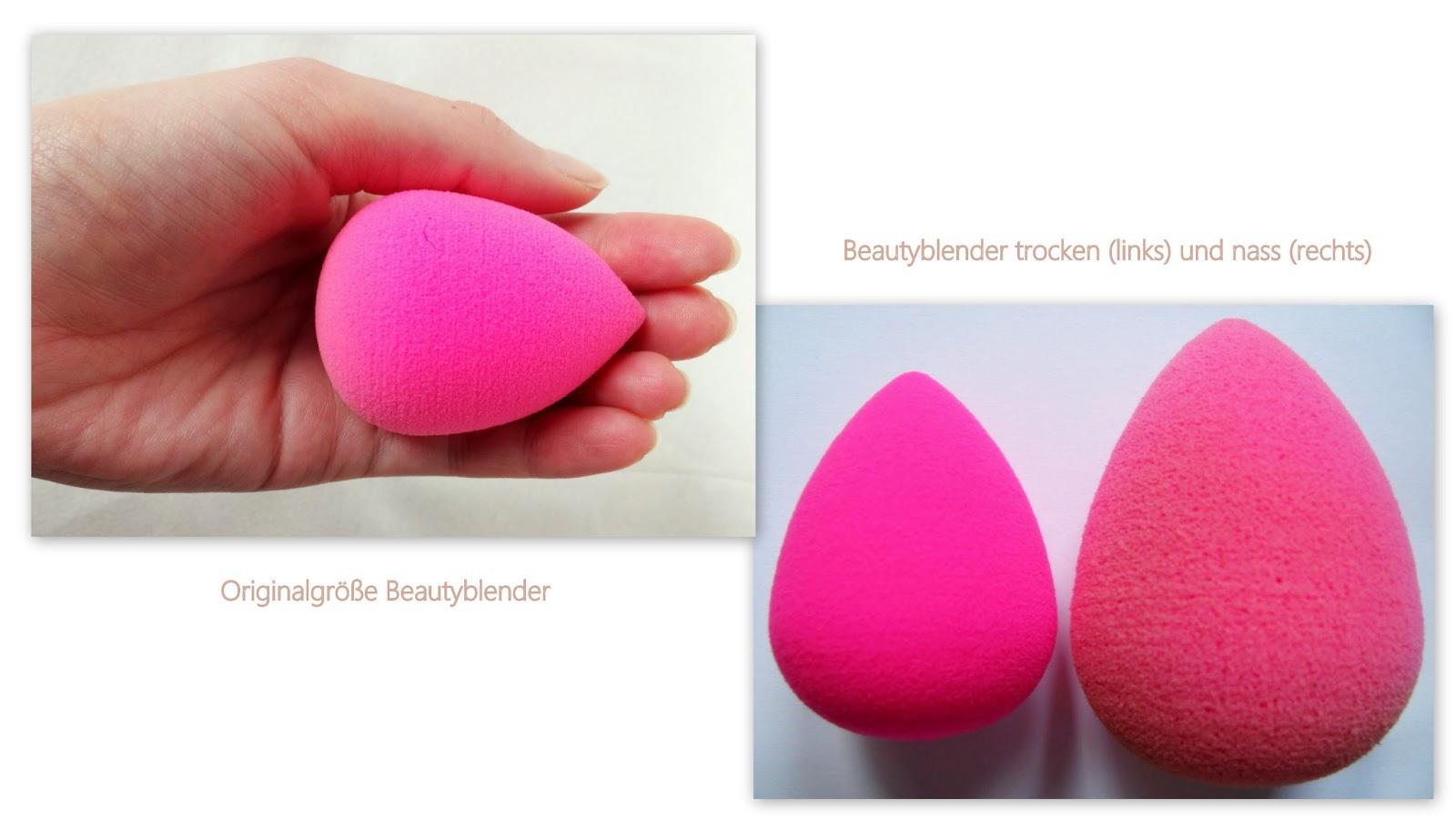 Beautyblender original pinkes Beauty Schwämmchen trocken und nass
