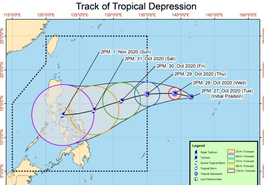 LPA east of South Luzon develops into tropical depression