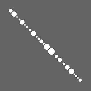 対角線上のサークル・パッキング