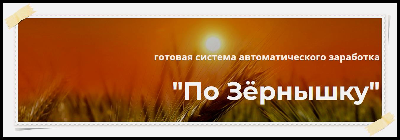 """Готовая система автоматического заработка """"По Зёрнышку"""" 6 независимых источников дохода"""