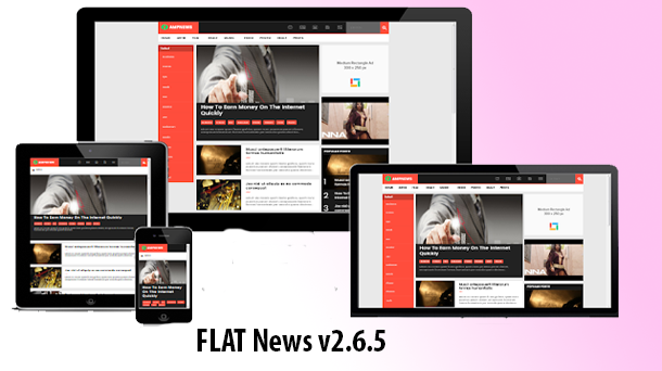 Flat News V2.6.5 Premium Blogger Download - Responsive Blogger Template