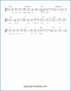 chord i'll remember april 2 lagu jazz standar