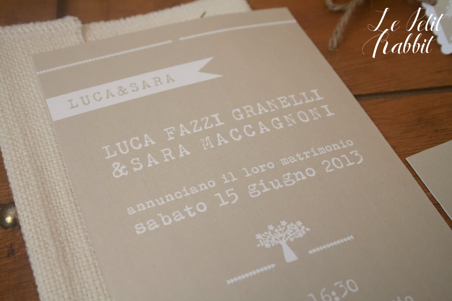 Favoloso WEDDING: Wedding suite per un matrimonio Rustico Simply BL07