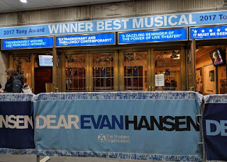 Front of the theatre playing Dear Evan Hansen, 239 45th Street, New York, New York