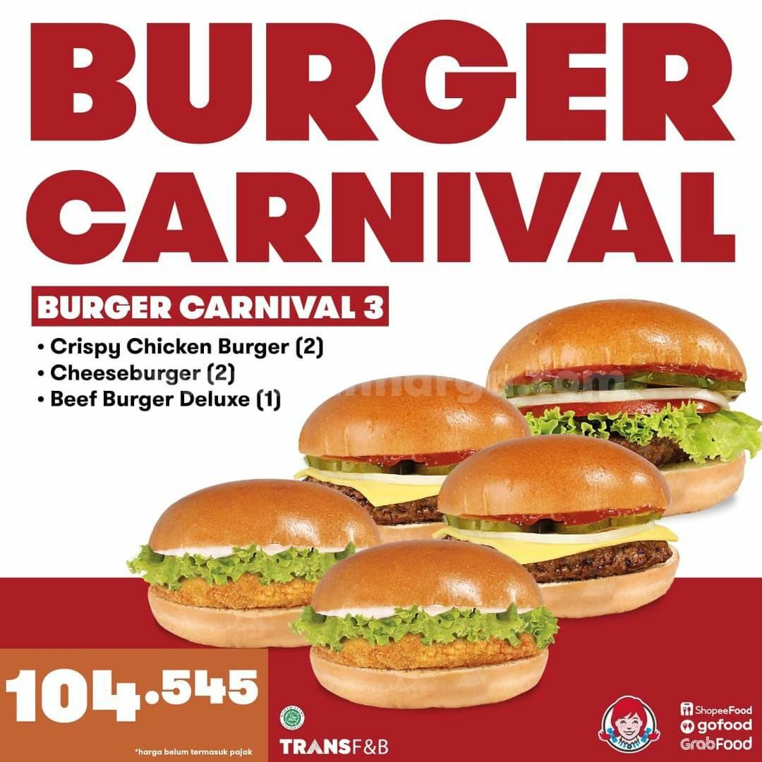 Promo Wendy's Paket Burger Carnival