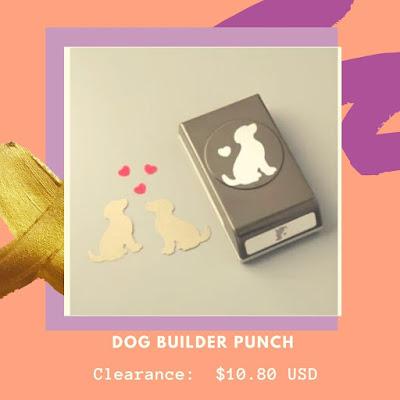 Stampin' Up1 Dog Builder Punch for handmade cardmaking