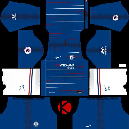 buy online 694f7 57478 Chelsea FC 2018/19 Kit - Dream League Soccer Kits - Kuchalana