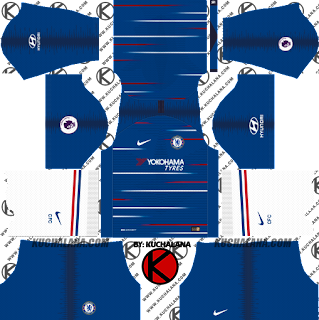 and the package includes complete with home kits Baru!!! Chelsea FC 2018/19 Kit - Dream League Soccer Kits