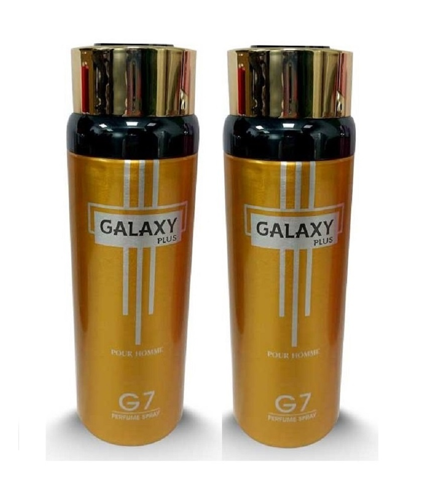 Pack Of 2 - Galaxy Plus G 7 Pour Homme Body Spray 200 ml Each