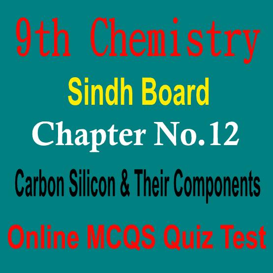 Sindh Board MCQs Chemistry
