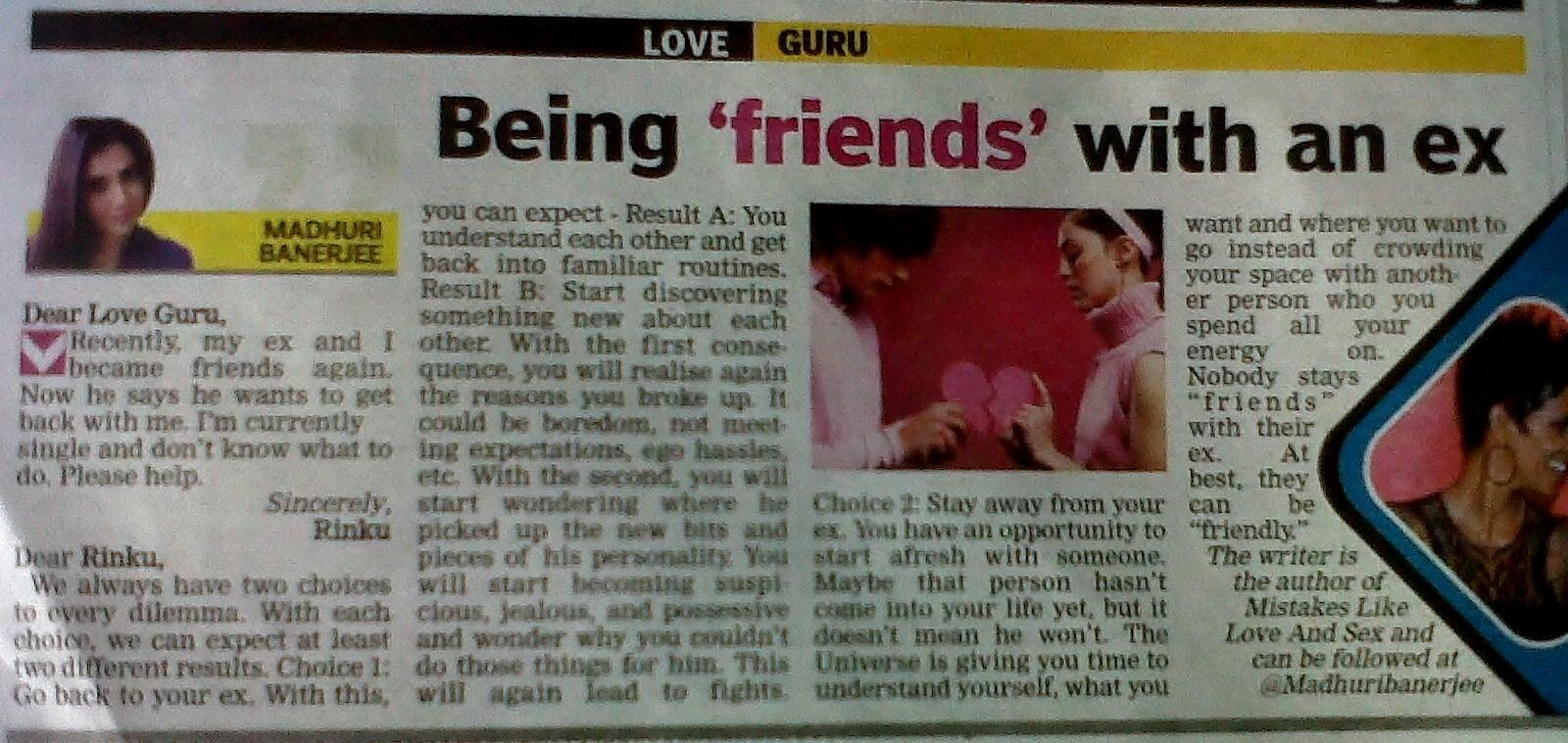 relationship advice column for women