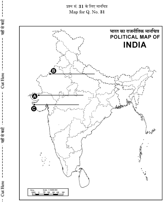 Map for question no 31