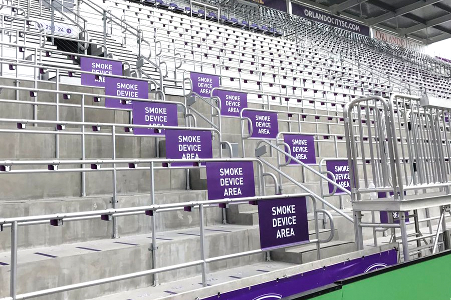 smoke device area nuovo stadio orlando city