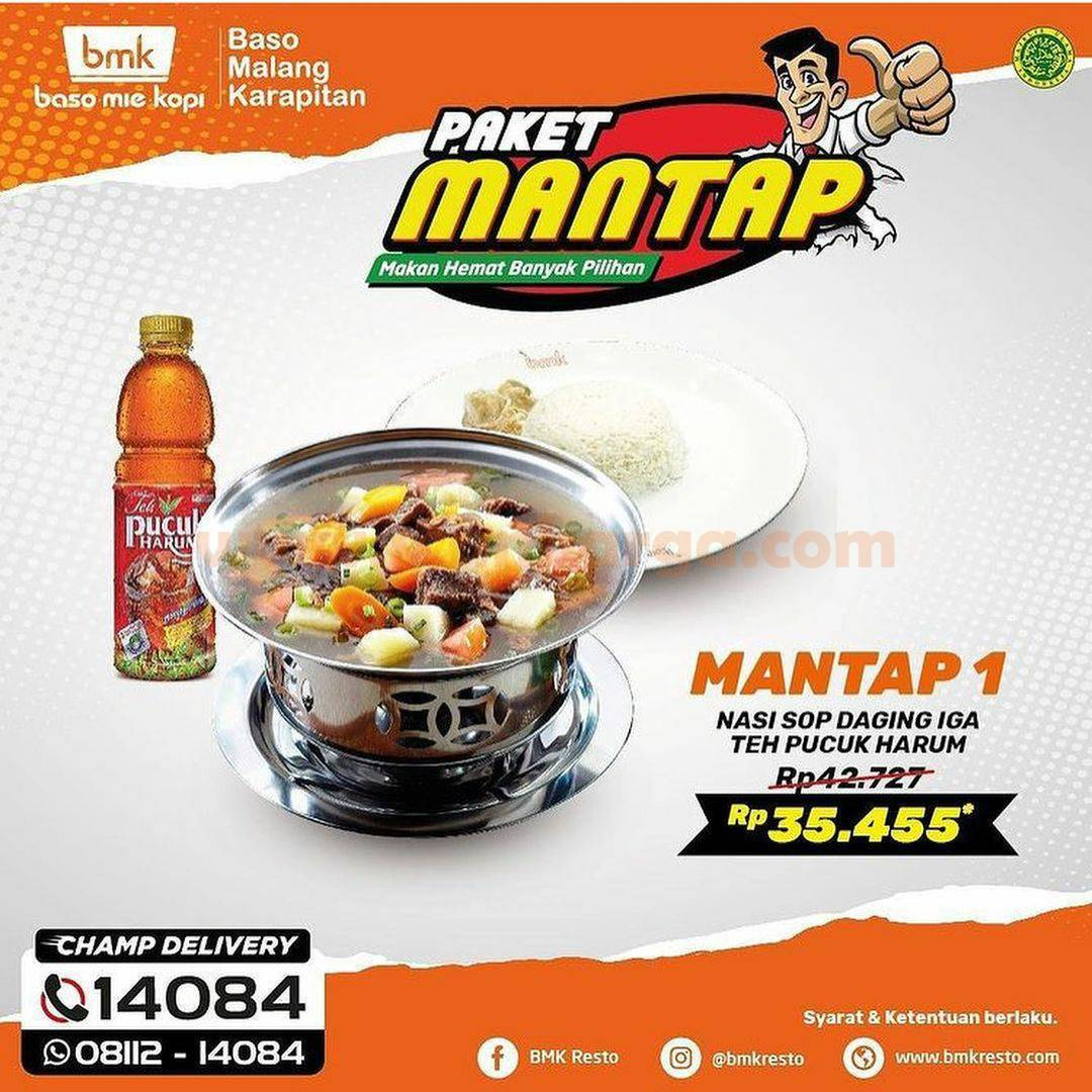 BMK Baso Mie Kopi Promo Paket Mantap! harga mulai Rp 27.273