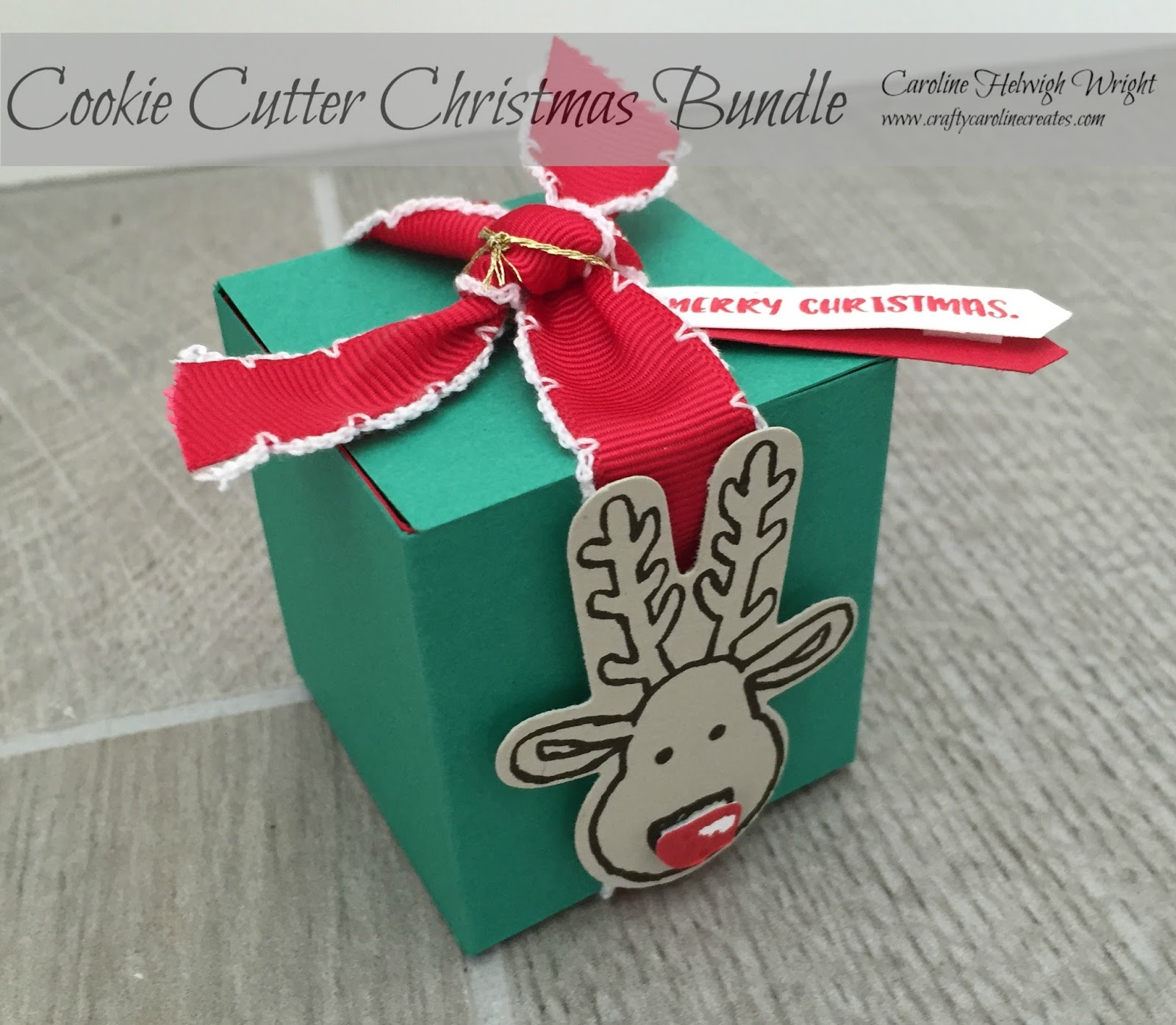 cookie cutter christmas surprise gift box video tutorial using stampin up products