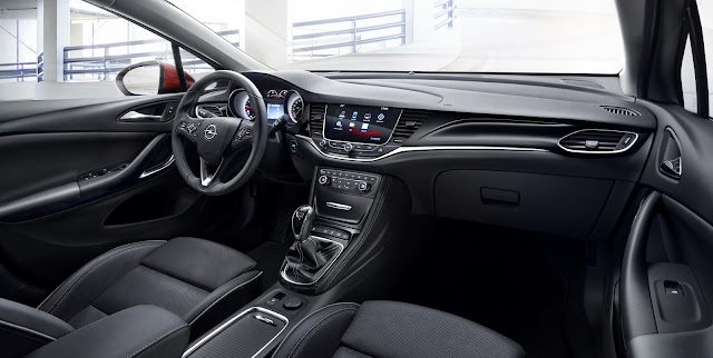 интерьер Opel Astra K 2016
