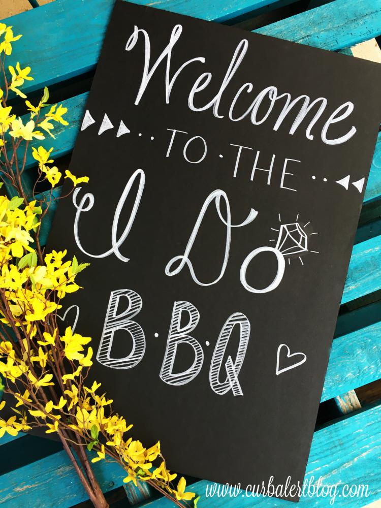 I Do Not Like: Outdoor Wedding Menu Signs: I Do BBQ
