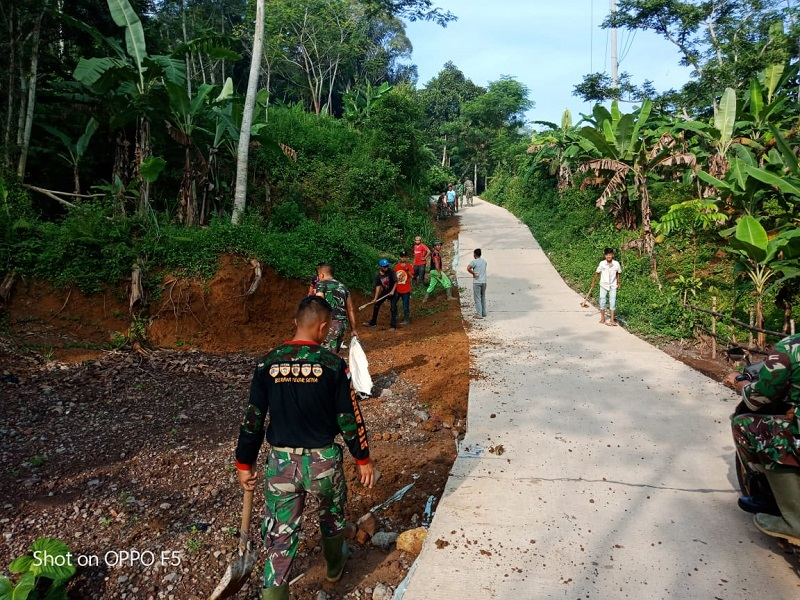 Satgas TMMD Kodim 0608/ Cianjur Hadir Dalam Membangun Kesejahteraan Masyarakat Desa
