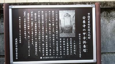 有形民俗文化財 甲幸供養塔 掲示板