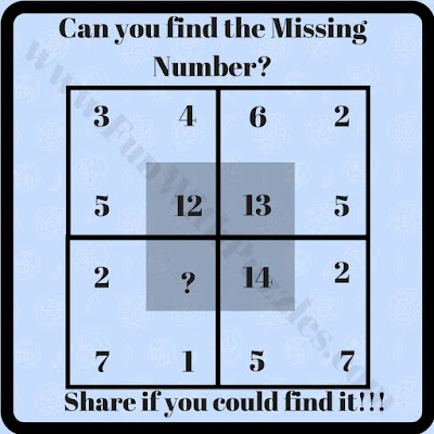 Missing number in square easy puzzle