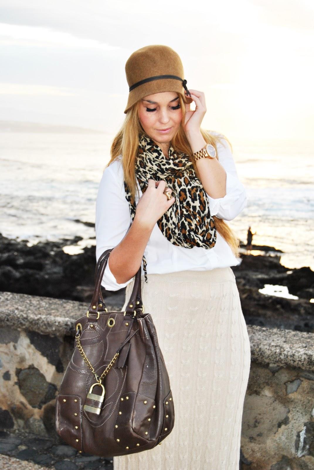 maxi skirt, hat, nery hdez, print animal , estampado leopardo