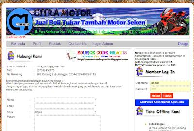 Download Gratis Source Code PHP Web Penjualan Kendaraan Mobil dan Motor