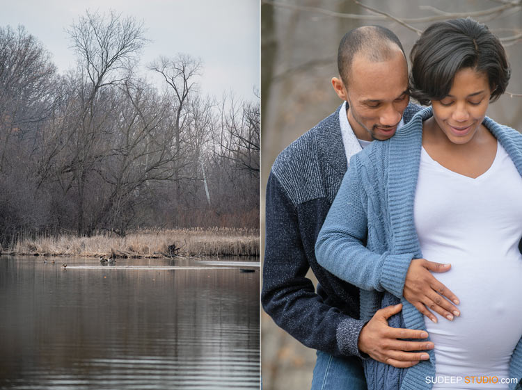 Outdoor Nature Maternity Photography in Livonia Park by SudeepStudio.com Ann Arbor Maternity Portrait Photographer